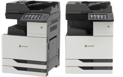 Lexmark z novimi večfunkcijskimi napravami formata A3 cilja na srednje velike delovne skupine